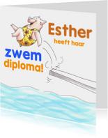 Diploma zwemmen meisje