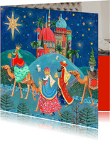 Drie Koningen kerstkaart