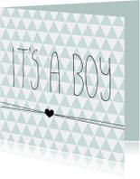 Driehoekjes 'it's a boy'