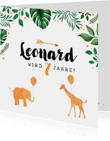 Dschungel-Einladung zum Kindergeburtstag