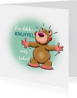 Een dikke knuffelbeer voor een vriend of vriendin
