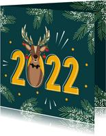 Een fijn 2022 van Rudolf gewenst voor de feestdagen