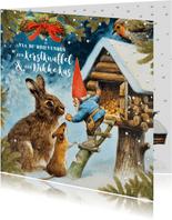 Een kerstknuffel en een dikke kus van de kabouter