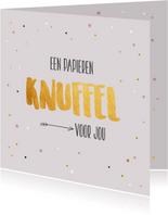 Een papieren knuffel - gold - zomaarkaart