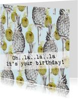 Een tropische verjaardagskaart OH..LA..LA..LA!
