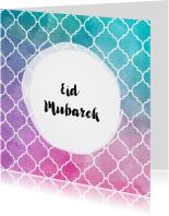 Eid Mubarek wenskaart