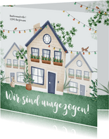 Einladung Einweihung Häuser, Pflanzen, Lichter & Tiere