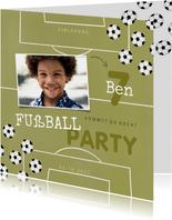 Einladung Fußball Party mit eigenem Foto