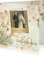 Einladung Goldene Hochzeit Retrolook Foto