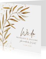 Einladung Hochzeit feine Zweige