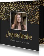 Einladung Jugendweihe Goldkonfetti Foto