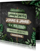Einladung Kindergeburtstag Dschungelparty