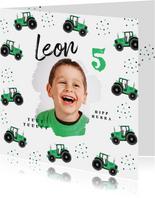 Einladung Kindergeburtstag grüne Traktoren