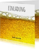 Einladung Prost mit Bier