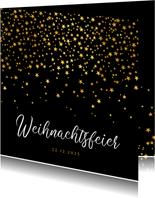 Einladung Weihnachtsfeier goldene Sterne geschäftlich