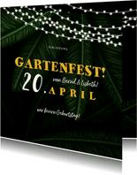 Einladung zum Gartenfest Doppelgeburtstag