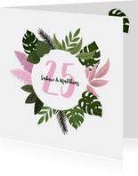 Einladung zum Hochzeitsjubiläum botanisch mit Foto