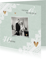 Einladung zum Hochzeitstag Fotos und Spitzendecke