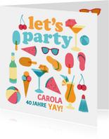 """Einladung zum Sommer-Geburtstag """"Let's Party"""""""