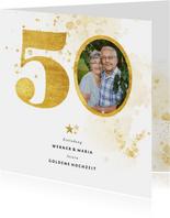 Einladung zur goldenen Hochzeit goldene 50