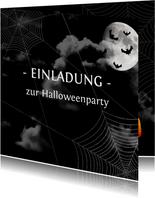 Einladung zur Halloweenparty Black sky