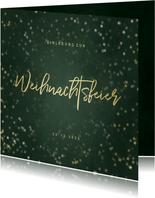 Einladung zur Weihnachtsfeier Handlettering und Sterne