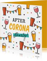 Einladungskarte 'After-Corona-Party'