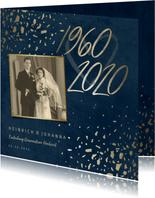 Einladungskarte Diamantene Hochzeit 1960-2020