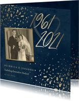 Einladungskarte Diamantene Hochzeit 1961-2021