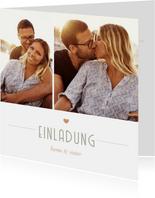 Einladungskarte Fotocollage Hochzeit moderne Klassik