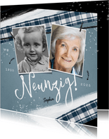 Einladungskarte Geburtstag vintage mit zwei Fotos