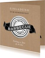 Einladungskarte zum Barbecue-Sommerfest