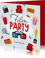 Einladungskarte zur Filmparty 3D-Brille