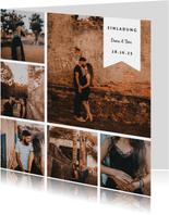 Einladungskarte zur Hochzeit Fotocollage