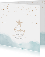 Einladungskarte zur Hochzeit Strandfeeling
