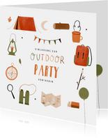 Einladungskarte zur Outdoor Party