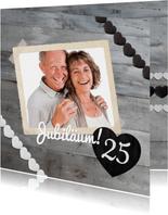 Einladungskarte zur Silberhochzeit Foto mit Herz