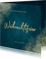 Einladungskarte zur Weihnachtsfeier Goldschrift