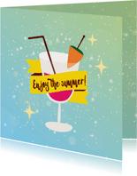 Enjoy the summer - vakantiekaart