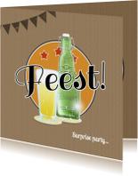 Feest bierglas en fles B