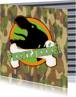 Feest T-rex legerprint