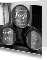 Jubileumkaarten - Feest wijnvaten zelf invullen
