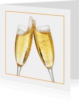 Feestelijke openingskaart champagne