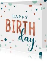Feestelijke verjaardagskaart met confetti