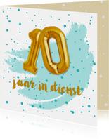 Felicitatie 10 jaar in dienst ballonnen