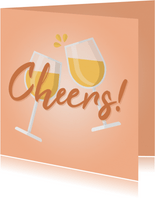 Felicitatie algemeen cheers met wijnglazen