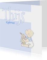 Felicitatie baby met konijn