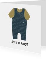 Felicitatie Babypakje Jongen