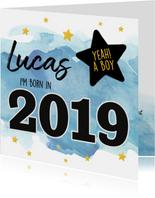 Felicitatie - born in 2019 (jongen)