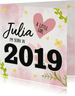 Felicitatie - born in 2019 (meisje)